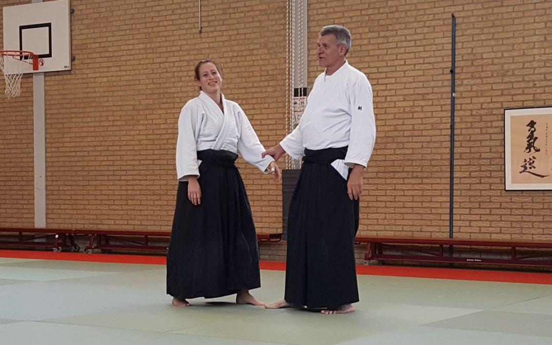 Ernesto Ladavas Sensei geeft les